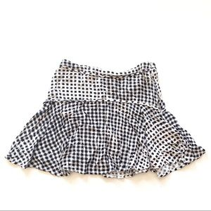 MINKPINK Black and White Checkered Mini Skirt M